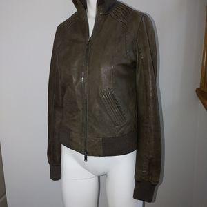 Mackage x aritzia lamb leather jacket